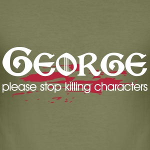 Please stop killing characters T-Shirts - Men's Slim Fit T-Shirt