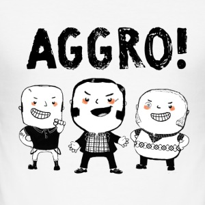 AGGRO Boys don't fear! T-Shirts - Men's Slim Fit T-Shirt