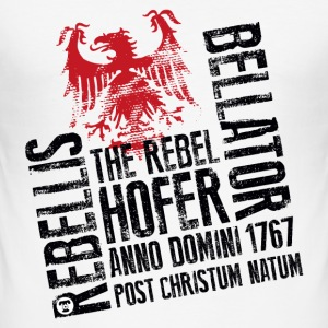 The Rebel Hofer Männer T-Shirt weiss - Männer Slim Fit T-Shirt