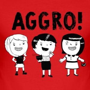 AGGRO Girls don't fear! T-Shirts - Men's Slim Fit T-Shirt