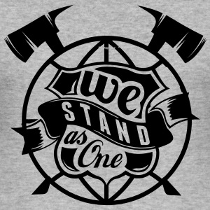We stand as one - Männer Slim Fit T-Shirt
