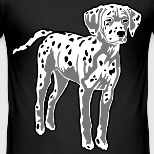 Dalmatian Dog Puppy T-Shirts - Men's Slim Fit T-Shirt