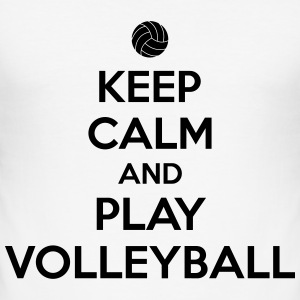 Keep calm and play volleyball Camisetas - Camiseta ajustada hombre