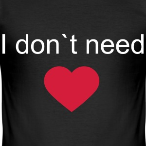 heart,love,ass,need,dont,hass,beziehung T-skjorter - Slim Fit T-skjorte for menn
