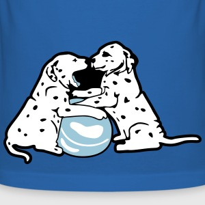 Dalmatian Puppies Dogs with Ball T-Shirts - Men's Slim Fit T-Shirt