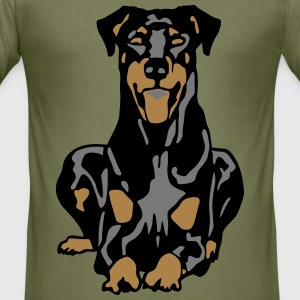 Dobermann Pinscher Dog T-Shirts - Men's Slim Fit T-Shirt