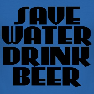Save water, drink beer T-shirts - Herre Slim Fit T-Shirt