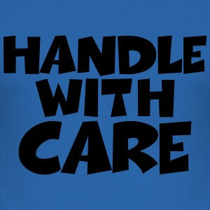 Handle with care T-shirts - Herre Slim Fit T-Shirt