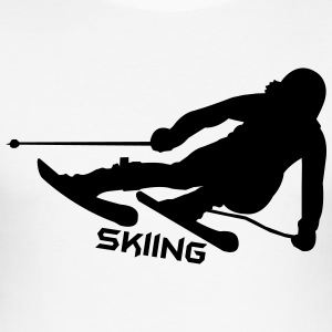 Ski, ski, skiing, après ski, freeski, freeskiing T-Shirts - Men's Slim Fit T-Shirt
