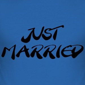 Just married Camisetas - Camiseta ajustada hombre