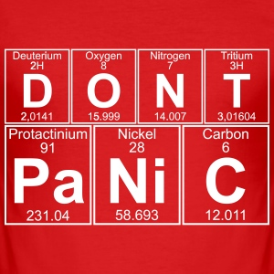 D-O-N-T Pa-Ni-C (don't Panic) T-Shirts - Men's Slim Fit T-Shirt