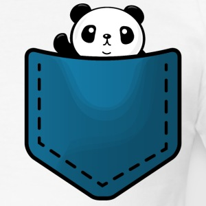 Panda in a pocket Tee shirts - Tee shirt près du corps Homme