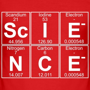 Sc-I-E-N-C-E (science) T-Shirts - Men's Slim Fit T-Shirt
