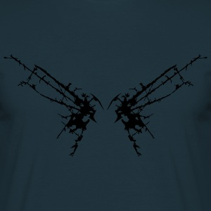 Rayures fissures papillon aile mites Tee shirts - T-shirt Homme