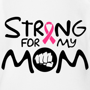 Strong for my mom Shirts - Baby bio-rompertje met korte mouwen
