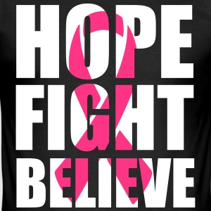 Hope fight believe T-shirts - Herre Slim Fit T-Shirt