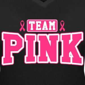 Team Pink T-Shirts - Women's V-Neck T-Shirt