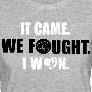 It came - we fought - I won: cancer T-Shirts - Women's Organic T-shirt