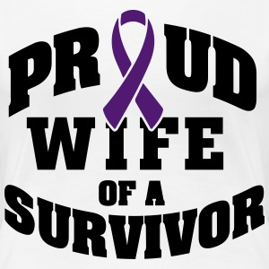 Proud wife of a survivor T-shirts - Dame premium T-shirt