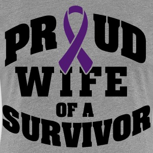 Proud wife of a survivor T-Shirts - Women's Premium T-Shirt