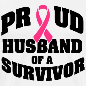 Proud husband of a survivor T-shirts - Herre premium T-shirt