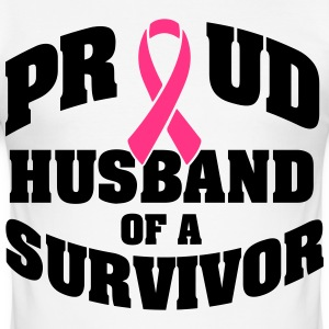 Proud husband of a survivor T-Shirts - Men's Slim Fit T-Shirt