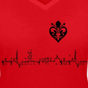 I love Firenze - by Jawdrop Visual - Maglietta da donna scollo a V