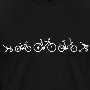 Cykel Evolution T-shirts - Herre premium T-shirt