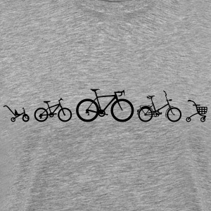 Evolution Bicycle Road T-shirts - Premium-T-shirt herr