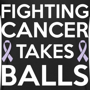 Fighting cancer takes balls T-shirts - Mannen T-shirt met V-hals