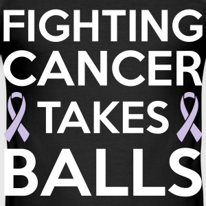 Fighting cancer takes balls Tee shirts - Tee shirt près du corps Homme