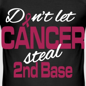 Don't let cancer steal 2nd base T-shirts - Herre Slim Fit T-Shirt