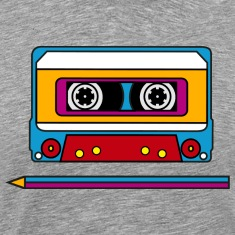 Retro mix tape, pencil, music, audio, walkman T-Shirts