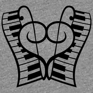 Piano keys Piano Clef Heart Love T-Shirts - Women's Premium T-Shirt