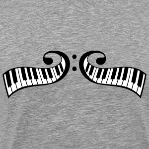 Piano keys Piano Clef Design T-Shirts - Men's Premium T-Shirt