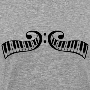 Klavertangenter klaver clef design T-shirts - Herre premium T-shirt