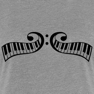 Conception de touches piano piano clef Tee shirts - T-shirt Premium Femme