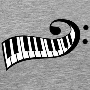 Touches de piano Piano clef Tee shirts - T-shirt Premium Homme