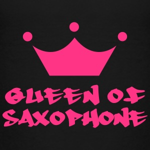 Queen of Saxophone Shirts - Teenage Premium T-Shirt