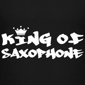 King of Saxophone Shirts - Teenage Premium T-Shirt