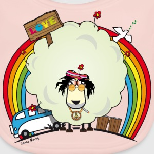 Sheep Marry Hippie Edition - Schaf Marry Hippie - Baby Bio-Lätzchen