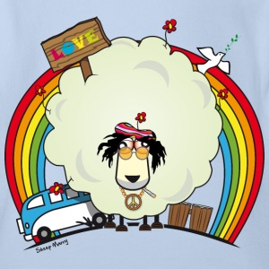 Sheep Marry Hippie Edition - Schaf Marry Hippie - Baby Bio-Kurzarm-Body