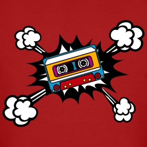 Retro cassette, tape, comic style, pop art, music Camisetas - Camiseta ecológica hombre
