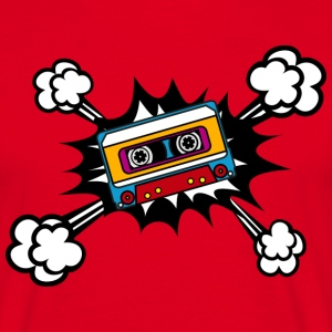 Retro cassette, tape, comic style, pop art, music Magliette - Maglietta da uomo