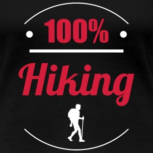 100% Hiking T-shirts - Vrouwen Premium T-shirt