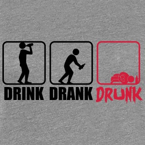 Evolution Hangover Drink Drank Drunk T-Shirts - Women's Premium T-Shirt
