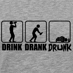 Evolution Hangover Drink Drank Drunk T-Shirts - Men's Premium T-Shirt