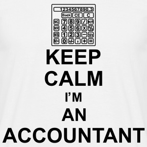 keep_calm_i'm_an_accountant_g1 T-shirts - Herre-T-shirt