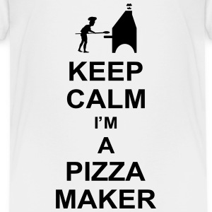 keep_calm_i'm_a_pizza_maker_g1 Skjorter - Premium T-skjorte for tenåringer