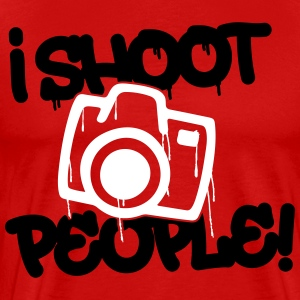 I shoot people - Photography T-Shirts - Men's Premium T-Shirt